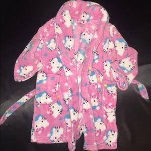 Girls plush hello kitty robe 2T pink